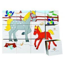 WOODY Kubus 3x4 - Zvířátka v ročních obdobích
