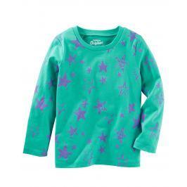 Oshkosh Dětské tričko s hvězdičkami - zelené