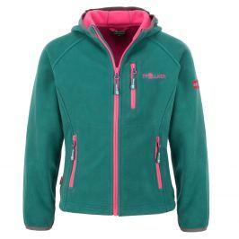 Trollkids Dívčí fleecová bunda Borgund - zelená