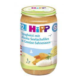 HiPP Špagety s mořskou rybou a zeleninou ve smetanové omáčce 6x250g