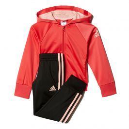 adidas Dívčí tepláková souprava - červeno-černá