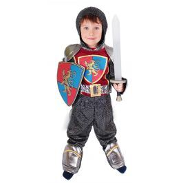 Rappa Karnevalový kostým rytíř se štítem, vel. M (116-128)
