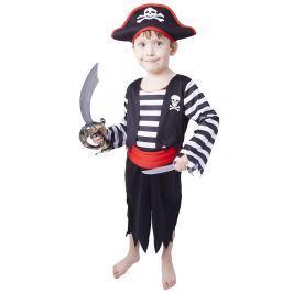 Rappa Karnevalový kostým pirát s čepicí vel. S (110-116)
