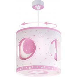 Dalber Dětské rotující závěsné svítidlo lamp Moon Pink EOL