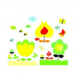 Djeco Samolepky na zeď Žlutá zahrada