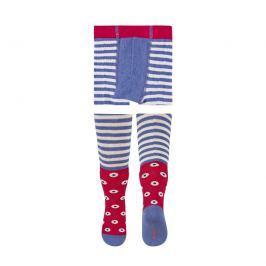 SOXO® Dívčí vzorované punčocháče - modro-červené