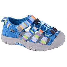 Bugga Chlapecké pruhované sandály - modré