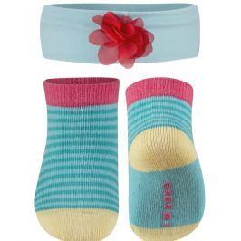 SOXO® Dívčí set ponožek a čelenky - světle modrý
