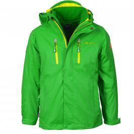 Trollkids Dětská bunda 3v1 Myrdal - zeleno-žlutá