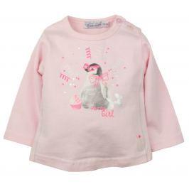 Dirkje Dívčí tričko s tučňákem - růžové