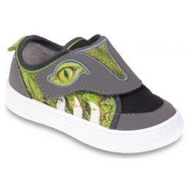 Befado Chlapecké tenisky s krokodýlem Funny - zeleno-šedé