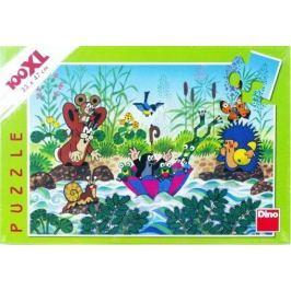 Dino Puzzle Krtek Krtečkova plavba 100 dílků XXL
