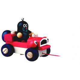 Detoa Krtek a mrkací auto dřevo tahací 14 cm