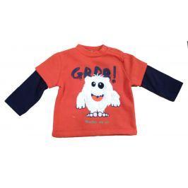 Carodel Chlapecké tričko s příšerkou - červené