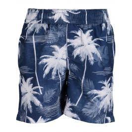 Blue Seven Chlapecké koupací šortky s palmami - modré