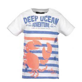 Blue Seven Chlapecké tričko s krabem - bílé
