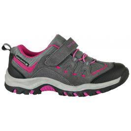 ALPINE PRO Dívčí outdoorová obuv Riono - šedo-červená