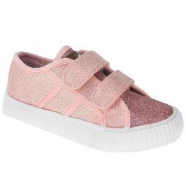 Beppi Dívčí plátěné tenisky - růžové