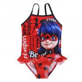 Disney Brand Dívčí plavky Ladybug - červené