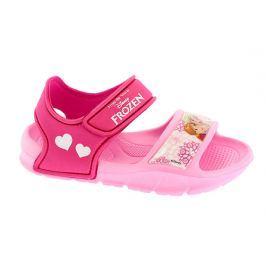 Disney by Arnetta Dívčí gumové sandály Frozen - růžové