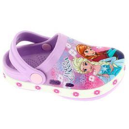 Disney by Arnetta Dívčí gumové sandály Frozen - fialové