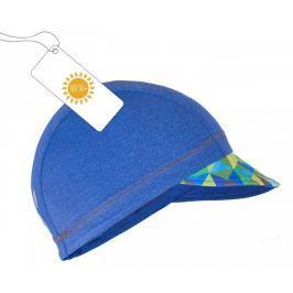 Unuo Chlapecká čepice s kšiltem Triangl UV 50+ - modrá