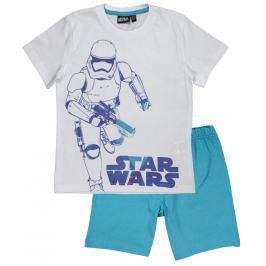 E plus M Chlapecké pyžamo Star Wars - bílo-tyrkysové