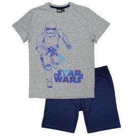 E plus M Chlapecké pyžamo Star Wars - šedo-modré