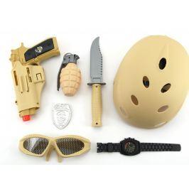 Teddies Vojenský set s helmou plast 7 ks