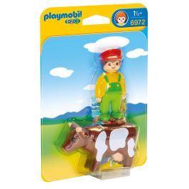 Playmobil Farmář s kravičkou (1.2.3)