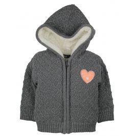 Dirkje Dívčí svetr s kožíškem - tmavě šedý