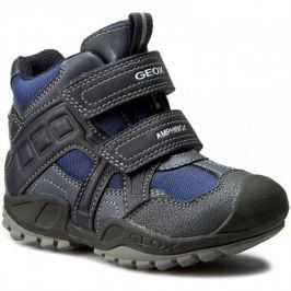 Test Geox Chlapecké zimní boty New Savage - modro-šedé e7fa46cb74