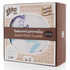 XKKO Bambusová zavinovačka Limited Edition 120x120 cm, Modrá hvězda
