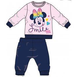 Disney by Arnetta Dívčí pyžamo Minnie - růžovo-modré