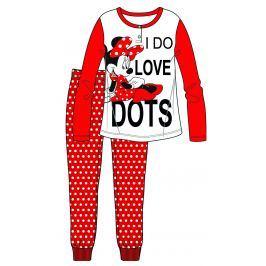 Disney by Arnetta Dívčí pyžamo Minnie - červené