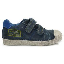 D.D.step Chlapecké tenisky s nápisem - modré