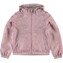 Name it Dívčí šusťáková bunda s kytičkami - růžová