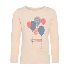 Name it Dívčí tričko s balónky - broskvové
