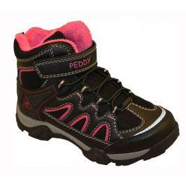 Peddy Dívčí outdoorová obuv - černo-růžová