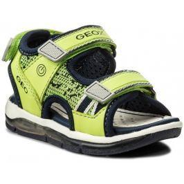 Geox Chlapecké svítící sandály Todo - zeleno-žluté