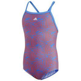 adidas Dívčí jednodílné plavky - oranžovo-modré