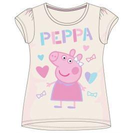 E plus M Dívčí tričko Peppa Pig - šedé