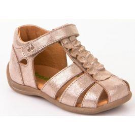 Froddo Dívčí páskové sandálky s řasením - zlaté