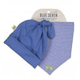 Blue Seven Chlapecký set čepice a šátku - modrý