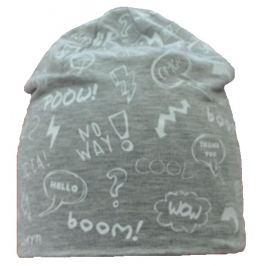 Broel Chlapecká čepice Zoltan - šedo-žlutá
