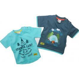 Gelati Chlapecký set 2 ks triček Camp Boy - modrý