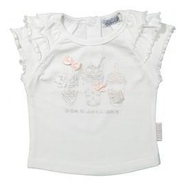 Dirkje Dívčí tričko se stříbrným potiskem - bílé