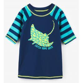 Hatley Chlapecké plavecké tričko s rejnokem UV 50+ - modré