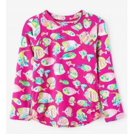 Hatley Dívčí plavecké tričko s rybičkami UV 50+ - růžové