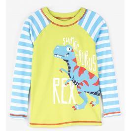 Hatley Chlapecké plavecké tričko s dinosaurem UV 50+ - barevné